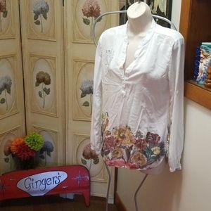 9b53cc9a62b Desigual Tops | Man Shirt Made For A Woman | Poshmark